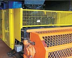 Cotar tela de proteção para máquinas