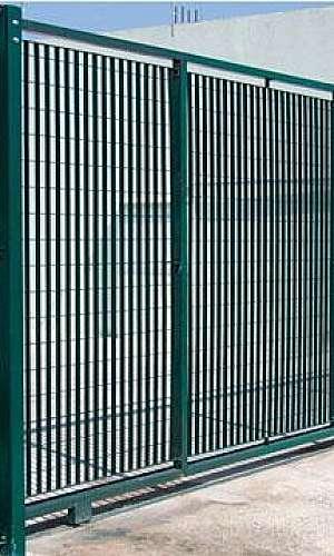 Portão basculante gradil eletrofundido
