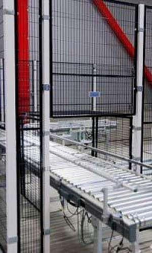 Proteção para máquinas industriais